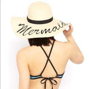 Accessories - Oversized 'Mermaid' Floppy Straw Hat